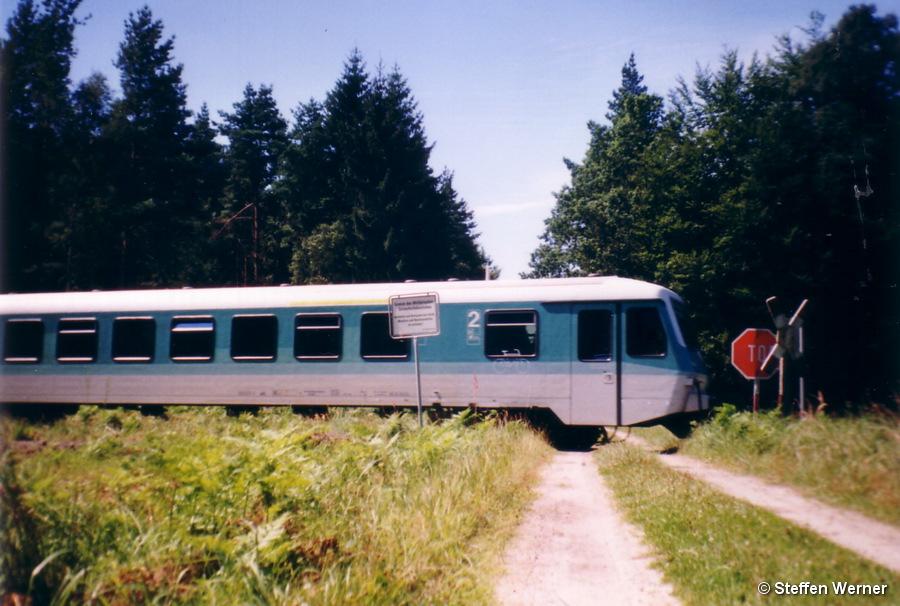 Bahnübergang Georg-Schneise vor Umbau