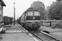 132-574 am 27.07.1988 im Bahnhof Gelbensande