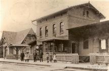 Bahnhofsgebäude Gelbensande in den 1920er Jahren