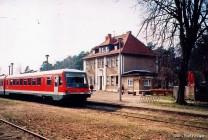 Ein Triebwagen der Baureihe 628 in Graal-Müritz.