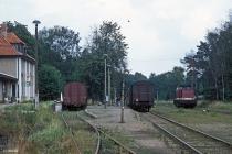 Graal-Müritz Bahnhofsgebäude und Laderampe 17.08.1990