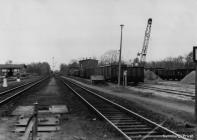 Stellwerk B1 und Ausfahrt Ribnitz-Damgarten West 1982