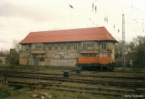 Stellwerk B2 im Rostocker Güterbahnhof