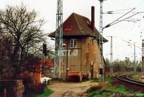 Stellwerk B1 am südlichen Ende des Rostocker Güterbahnhofes