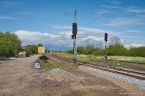 Bahnhofseinfahrt Rövershagen