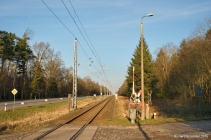 Bahnübergang Schwarzenpfost - Februar 2015