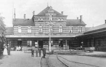 Bahnhof Warnmünde 1886