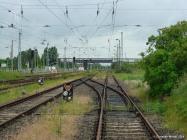 Weichenbereich Güterbahnhof Warnemünde Werft